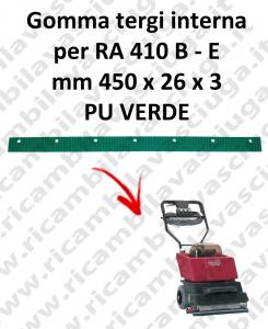 RA 410 B - et BAVETTE interne pour CLEANFIX rechange autolaveuses suceur