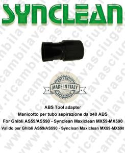 Schlauch für Rohr Aspiration von ø40 ABS SYNCLEAN für scheuersaugmaschinen Ghibli AS59 - AS590 - Synclean MX59 - MX590