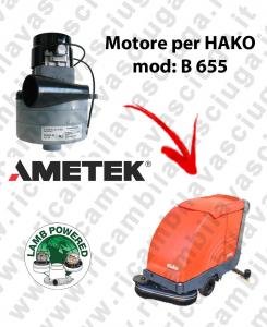 B 655 MOTEUR ASPIRATION LAMB AMATEK pour autolaveuses HAKO