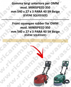 MINISPEED 350 Vorne sauglippen für scheuersaugmaschinen OMM