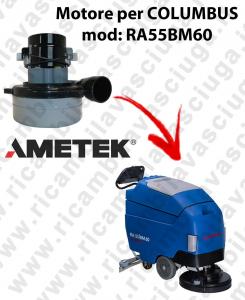 RA55BM60 MOTEUR ASPIRATION LAMB AMATEK pour autolaveuses COLUMBUS