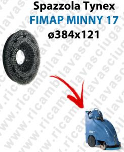 BROSSE TYNEX  pour autolaveuses FIMAP MINNY 17. Reference: tynex  diamétre 384 X 121