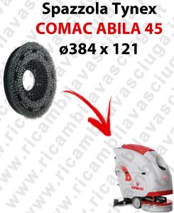 BROSSE TYNEX  pour autolaveuses COMAC ABILA 45. Reference: tynex  diamétre 384 X 121