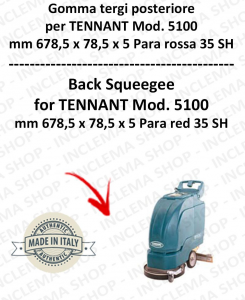 5100 Hinten sauglippen Para Rot 35 SH für scheuersaugmaschinen TENNANT