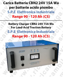 CBN2 24V 15A Wa Batterieladung für Blei-Säure-Batterie Range 90 - 120 Ah (C5) - S.P.E. Elettronica Industriale