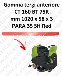CT 160 BT 75R BAVETTE AVANT pour autolaveuses IPC