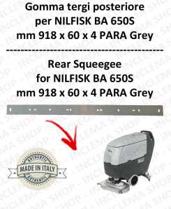 BA 650S Hinten sauglippen für scheuersaugmaschinen NILFISK