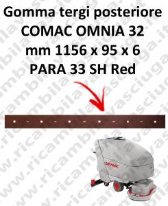 OMNIA 32 BAVETTE ARRIERE pour autolaveuses COMAC