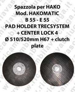 PAD HOLDER TRECSYSTEM  pour autolaveuses HAKO Reference HAKOMATIC B 55 - et 55