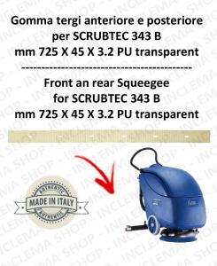 SCRUBTEC 343 B Vorder und hinten sauglippen für scheuersaugmaschinen Nilfisk Alto