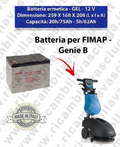 GENIE B Hermetische Batterie - Gel für scheuersaugmaschinen FIMAP