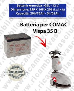 VISPA 35 B Hermetische Batterie - Gel für scheuersaugmaschinen COMAC