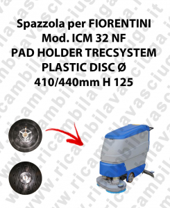 PAD HOLDER TRECSYSTEM  pour autolaveuses FIORENTINI Reference ICM 32 NF