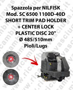 SHORT TRIM PAD HOLDER + CENTERLOCK pour autolaveuses NILFISK mod. SC 6500-40D