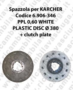 BROSSE A LAVER PPL 0.6 WHITE pour autolaveuses KARCHER code 6.906-346