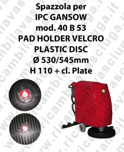 PAD HOLDER VELCRO pour autolaveuses GANSOW Reference 40 B 53