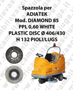 BROSSE A LAVER PPL 0,60 WHITE pour autolaveuses ADIATEK Reference DIAMOND 85