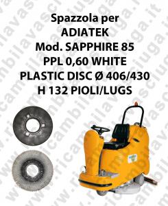 BROSSE A LAVER PPL 0,60 WHITE pour autolaveuses ADIATEK Reference SAPPHIRE 85