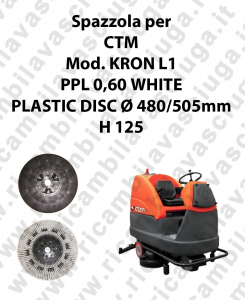 BROSSE A LAVER PPL 0,60 WHITE pour autolaveuses CTM Reference KRON L1