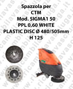 BROSSE A LAVER PPL 0,60 WHITE pour autolaveuses CTM Reference SIGMA1 50