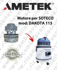 DAKOTA 115 MOTEUR ASPIRATION AMETEK pour aspirateur SOTECO