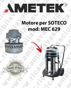 MEC 629 MOTEUR ASPIRATION AMETEK pour aspirateur SOTECO