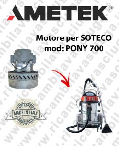 PONY 700 MOTEUR ASPIRATION AMETEK pour aspirateur SOTECO