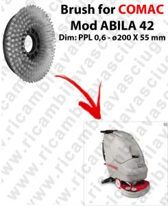 BROSSE A LAVER pour autolaveuses COMAC ABILA 42 . Reference: PPL 0,6 - diamétre 200 X 55 mm -  old