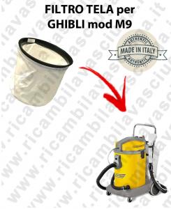 FILTRE TOILE pour aspirateur GHIBLI Reference M9
