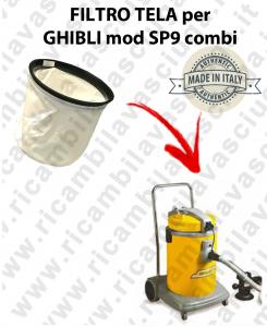 FILTRE TOILE pour aspirateur GHIBLI Reference SP9 COMBI