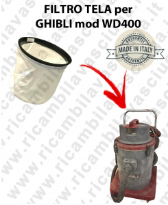 FILTRE TOILE pour aspirateur GHIBLI Reference WD400