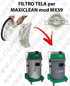 SAC FILTRE NYLON cod: 3001220 pour aspirateur MAXICLEAN Reference MX59