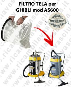 SAC FILTRE NYLON cod: 3001220 pour aspirateur GHIBLI Reference AS600