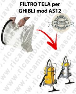 SAC FILTRE NYLON cod: 3001220 pour aspirateur GHIBLI Reference AS12