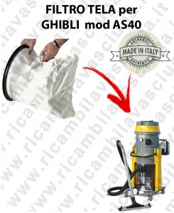 SAC FILTRE NYLON cod: 3001220 pour aspirateur GHIBLI Reference AS40