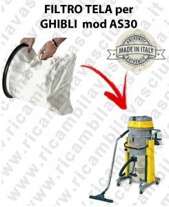 SAC FILTRE NYLON cod: 3001220 pour aspirateur GHIBLI Reference AS30