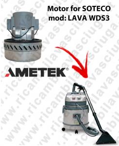 LAVA type WDS3 MOTEUR ASPIRATION AMETEK pour aspirateur SOTECO