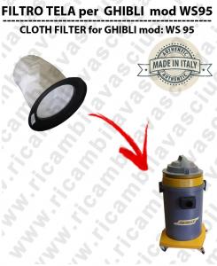 Filtre de toile pour aspirateurs GHIBLI modelle WS95