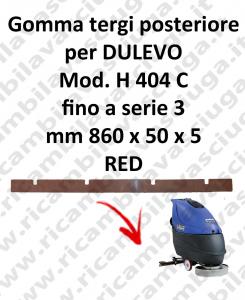 Bavette ARRIERE pour autolaveuses DULEVOmodelle H 404 C jusqu'à serie 3
