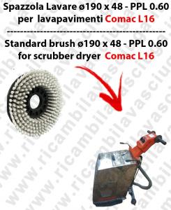 Brosse de laver  pour autolaveuses COMAC modele L16  diamétre  190 x 48 - PPL 0.6