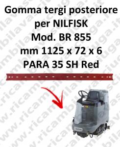 Bavette ARRIERE pour autolaveuses NILFISK modele BR 855
