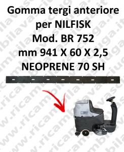 Bavette avant pour autolaveuses NILFISK modelle BR 752