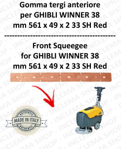 WINNER 38 squeegee rubber front for scrubber dryer  GHIBLI