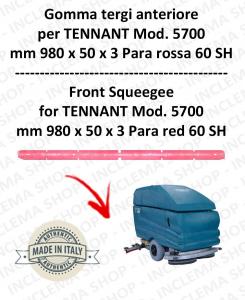 5700 Bavette avant Para Rouge pour autolaveuses TENNANT - suceur 700 mm