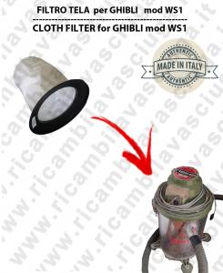 Filtre de toile pour aspirateurs GHIBLI modelle WS1