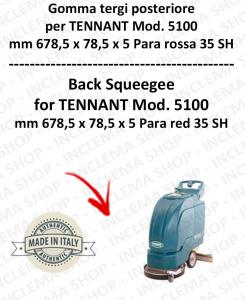 5100 Bavette ARRIERE PARA Rouge pour autolaveuses TENNANT 35 SH