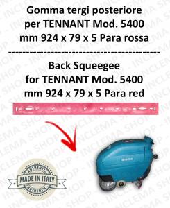5400 Bavette ARRIERE PARA Rouge pour autolaveuses TENNANT