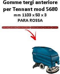 7100 Bavette avant PARA Rouge pour autolaveuses TENNANT - suceur 700 mm