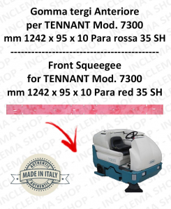 7300 Bavette avant PARA Rouge pour autolaveuses TENNANT - suceur 1000 mm
