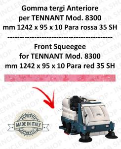 8300 Bavette avant PARA Rouge pour autolaveuses TENNANT - suceur 1000 mm
